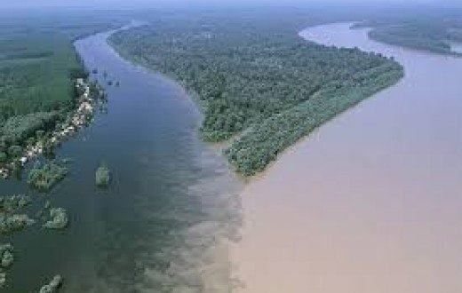 The confluence of River Niger and River Benue